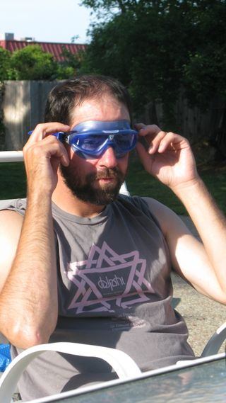 Jhn trippe wearing goggles