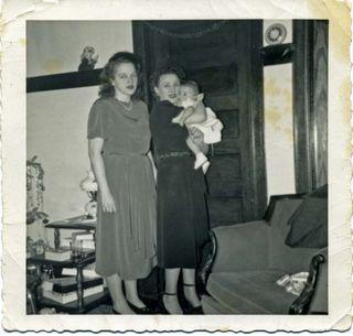 Lydia holding Cynthia