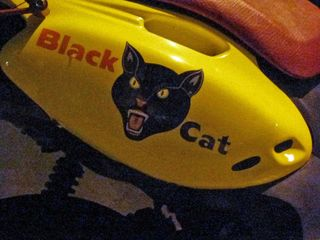 Black cat motocycle