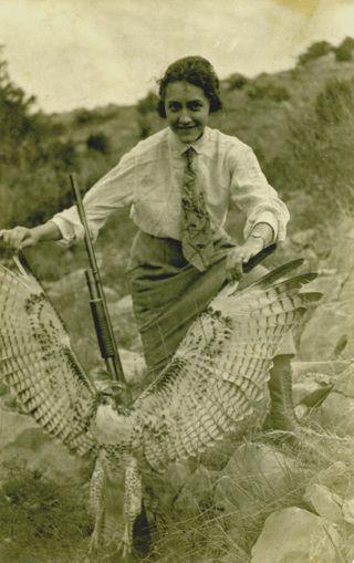 Aunt Gene with gun
