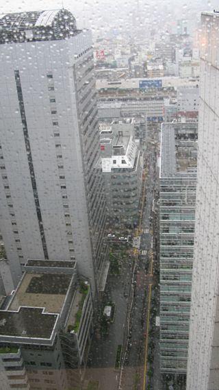 Tokyo hotel room window