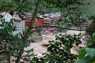 Raging river Machu Picchu