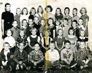 1950s first grade class
