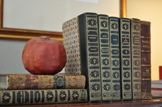Books and pomegranate