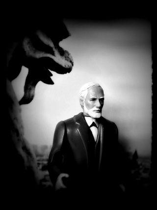 Freud gargoyle dark
